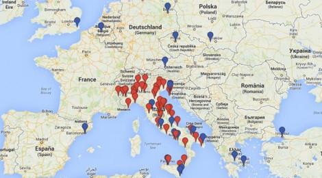 La mappa con una selezione dei Video 2014